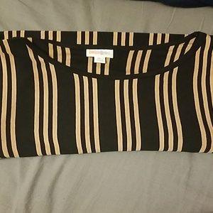 XL Black and Tan Julia Dress